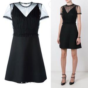 NWOT Valentino Dress Black Sheer Panel Dress